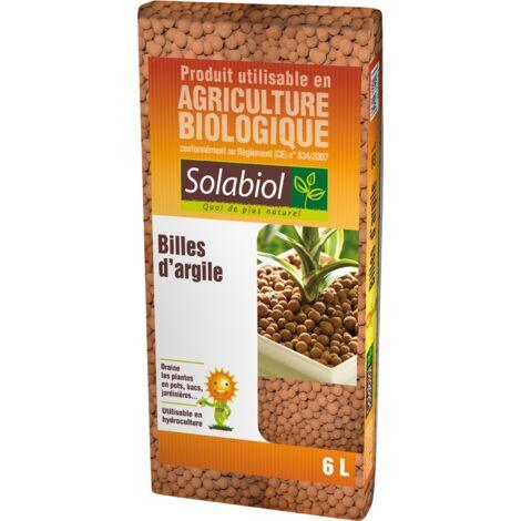 SOLABIOL SOARG6 Billes d'argile-Sac 6 L-Utilisable en Agriculture Biologique Hydroculture Paillage | Neutre