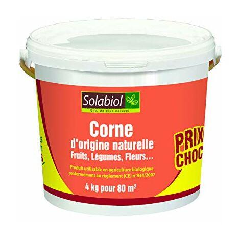 Solabiol SOCOR4 d'origine Naturelle 4 Kg Prix Choc | 100% Corne broyée, Puissant