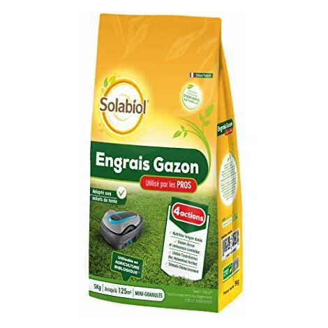 Solabiol SOGAZYPRO5 Engrais Professionnel 1 X 5 Kg | Gazon Dense et Croissance controlée, Puissant