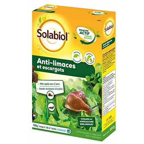 Solabiol SOLIMA900 Anti-Limaces Et Escargots 900g, Efficace
