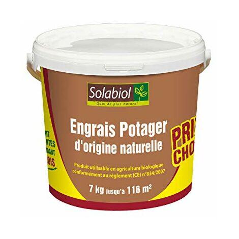 Solabiol SOPOT7 Engrais Potager Prix Choc 7 Kg | Utilisable en Agriculture Biologique, Puissant