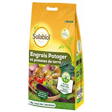 Solabiol SOPOTY5B Engrais Potager Pommes De Terre 30 X 5 Kg | Nutrition Longue duree, Puissant