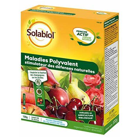 Solabiol SOSEREN100 Maladie Polyvalent-Traitement Fongicide au Bacillus subtilis   Utilisable en Agriculture Biologique, 20 Sachets de 5gr
