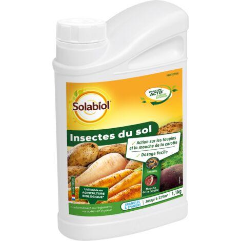 SOLABIOL SOSOL11 Insectes du Sol 1,1 kg | Taupins et Mouches de la Carottes | Utilisable en Agriculture Biologique