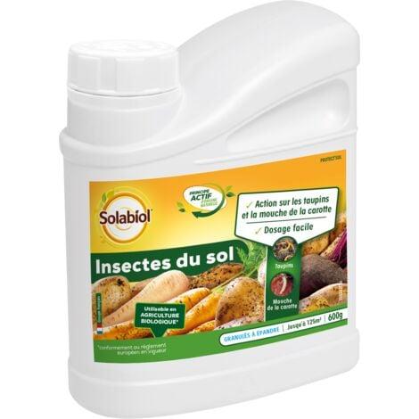 SOLABIOL SOSOL600 Insectes du Sol 600g | Taupins et Mouches de la Carottes | Utilisable en Agriculture Biologique