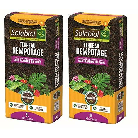 SOLABIOL - TERREAU REMPOTAGE 12L Pret A l'emploi Jusqu'à 5 Mois de Nutrition - TEREMPO6