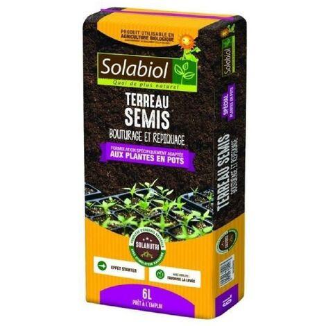 SOLABIOL - Terreau Semis - Sac 6 L - UAB