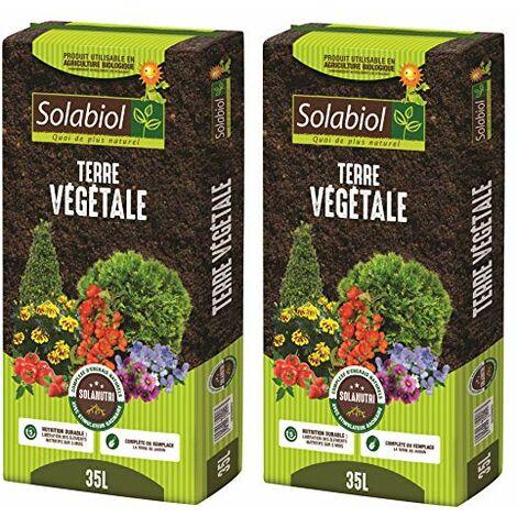 Solabiol TERVEG35 Terre VEGETALE 35 L Jusqu'à 5 Mois de Nutrition, Utilisable en Agriculture Biologique