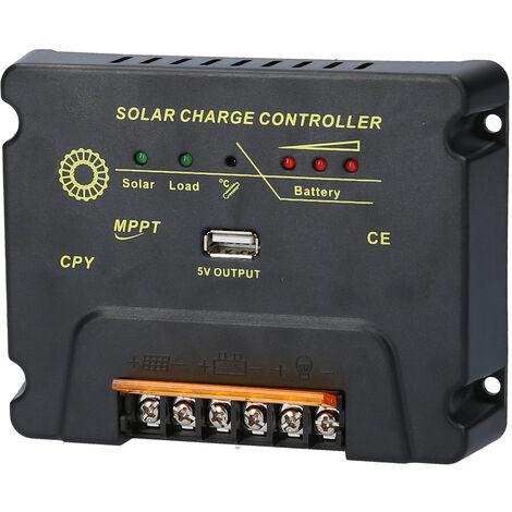 Solaire Controleur De Charge Pour 12V / 24V Systeme Solaire Panneau Regulateur Panneau Solaire
