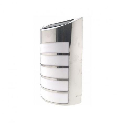 Solar 16x7 pared LED acero inoxidable,