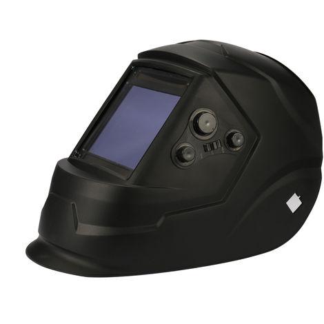 Solar automatico que cambia la luz mascara de soldadura casco, negro