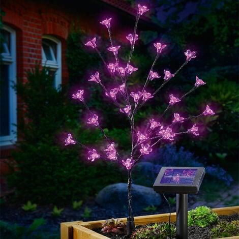 Solar Blütenstrauch Dekoleuchte Solarlampe Gartenleuchte Außen LED esotec 102104