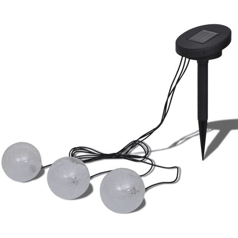 Solar Bowl 3 LED Floating Ball Light for Pond Swimming Pool - White