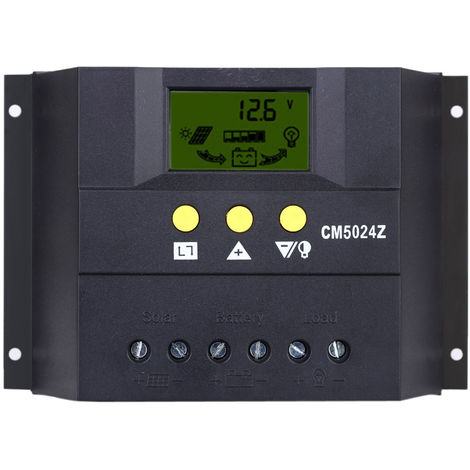 Solar Charge Controller PWM Charging LCD Display