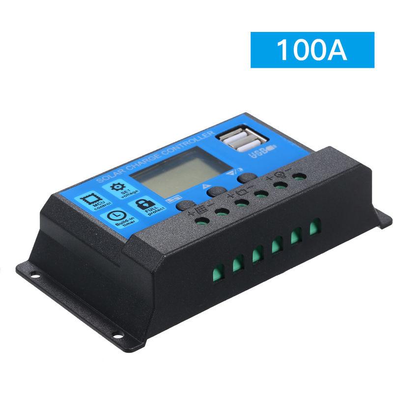 Image of 100A 12V / 24V Solar Charge Controller PWM Intelligent Regulator With USB 5V 2.5A - ASUPERMALL