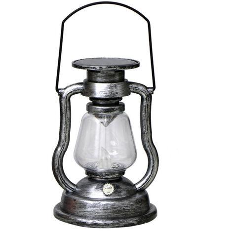 Solar colgantes activadas Vela retro luz LED de la lampara de aceite que oscila sin llama de la linterna solar al aire libre Iluminacion colgantes para Patio Jardin Patio Tienda de campana, color 3