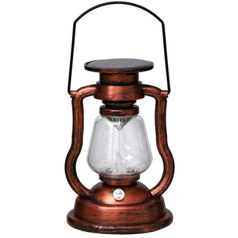 Solar colgantes activadas Vela retro luz LED de la lampara de aceite que oscila sin llama de la linterna solar al aire libre Iluminacion colgantes para Patio Jardin Patio Tienda de campana, color 4