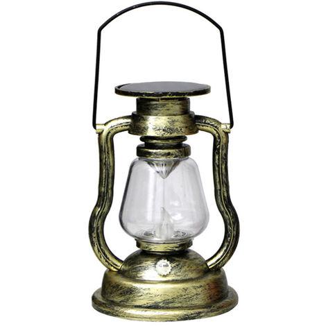 Solar colgantes activadas Vela retro luz LED de la lampara de aceite que oscila sin llama de la linterna solar al aire libre Iluminacion colgantes para Patio Jardin Patio Tienda de campana, el color 2