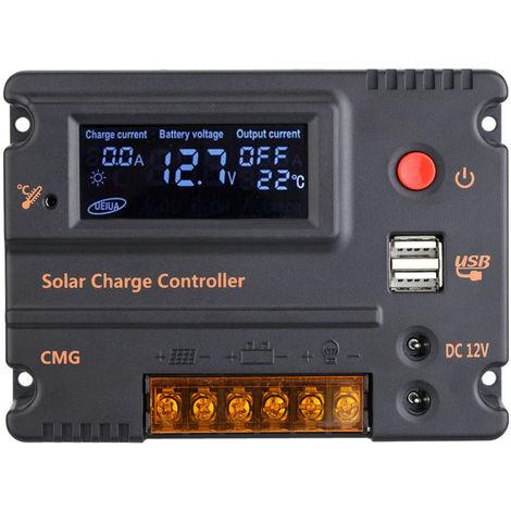 Solar controller 12V / 24V 10A LCD display