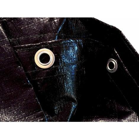 """main image of """"Solar Cubierta de piscina de invierno redonda 200g / m² para piscina 320 - 366 cm Dimensiones de lona ø 420 cm Negro"""""""