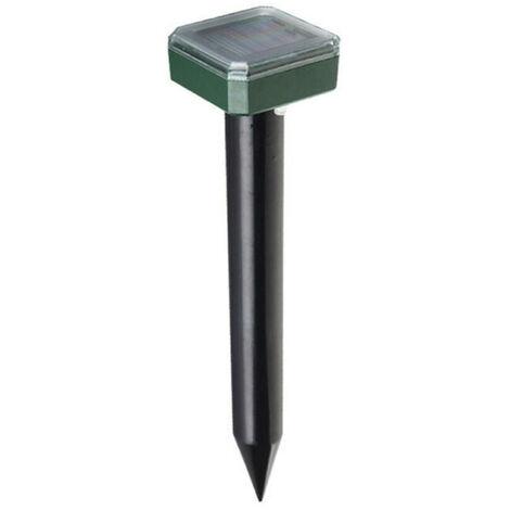Solar del topo Repelente ultrasonico al aire libre Powered Sonico disuasorio - Mole tapon susto campanol de cesped de jardin y patio Hogar, Negro