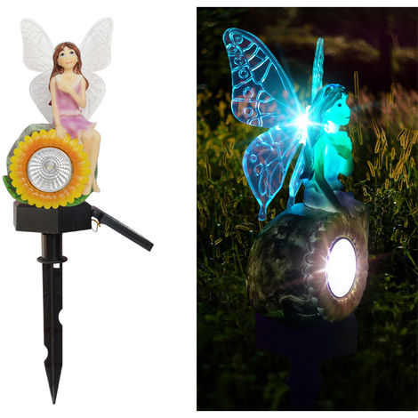 Solar Energy Powered Lamp Outdoor Garden Street Light Sunflower Flower Fairy