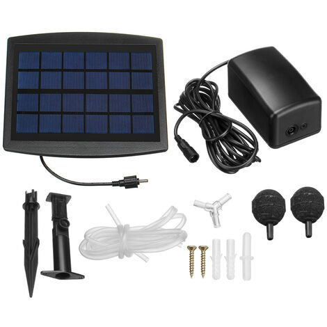 Solar Energy Water Pump For Garden Pond Oxygenator Oxygenator Aerator 2 Stone Bubbles
