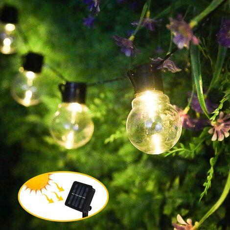 "main image of ""Solar Fairy Lights Outdoor Christmas Light Bulbs Fairy Lights 10 LEDs Bulbs Fairy Lights Waterproof Solar Lighting Outdoor for Garden, Yard, Balcony, Wedding, Party Decoration"""
