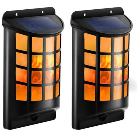 Solar Flame wall Lights Outdoor Waterproof Flickering Flame Solar Lights