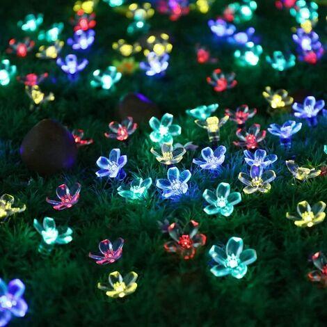 Solar Flower Strings Lights, Solar Fairy Lights 22 Ft 50 LED Plastic Flowers Solar Powered Light String ,Solar Fairy Lights-Waterproof Home Garden Decor