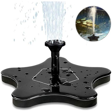 Solar Fountain, Electric Solar Water Pump Solar Panel Pump 1.4W Garden Outdoor Watering Floating Pump for Garden Patio Birds Pool and Water