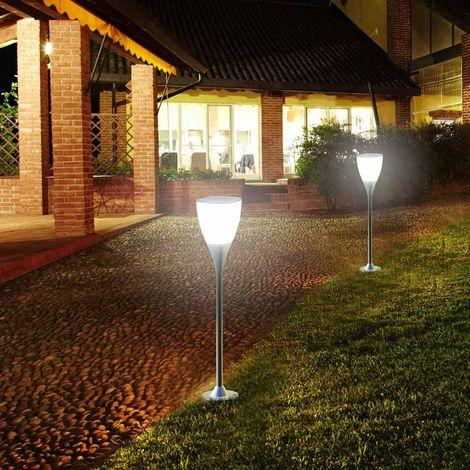 Solar Garden Lamp 8 LEDs 100 lumen Built In Solar Panel
