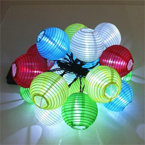 Solar Garland, Outdoor Lantern Ball Solar Patio Led String Fairy Light Party Wedding Christmas Solar Garland Fairy Light (Multicolor, 20LED)