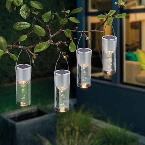 Beliebt Solar Hängeleuchten 4er Set warmweiß Solarleuchte LED Garten Deko BO49