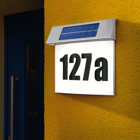 Solar Hausnnummer Style 2800K Solarleuchte Hausnummernleuchte LED esotec 102030