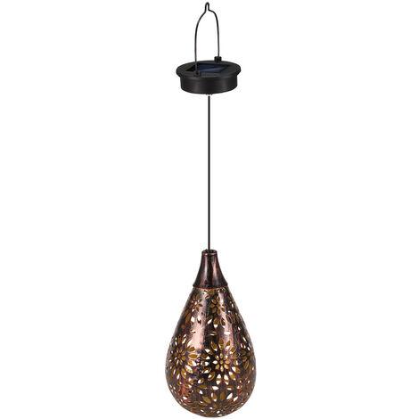 Solar hierro hueco linterna luz lampara retro patron marroqui de la lampara de proyeccion