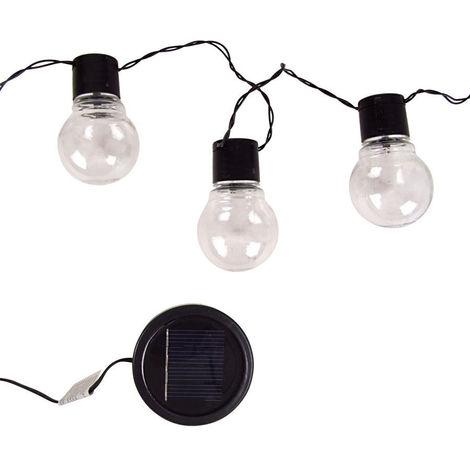 Solar Kugellichterkette Glühlampen - mit 10 LEDs