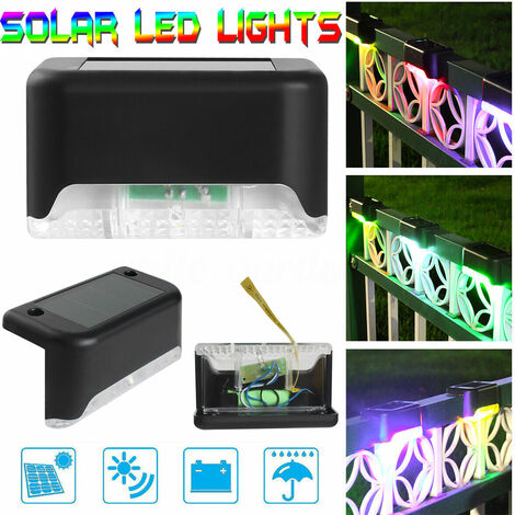 """main image of """"Solar Lamp LED Solar Lamp Garden Light Path Light Outdoor Lighting Garden Lamp (Colorful) -Black"""""""