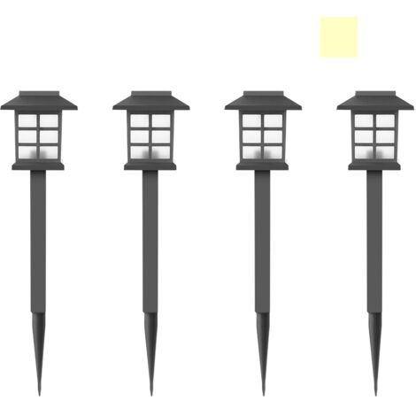 Solar Lamp Small Palace Lamp Garden Lamp insert Ground Light Outdoor Decorative Lighting - White