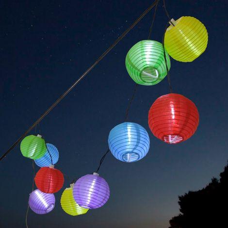 Solar Lampion Lichterkette - bunt