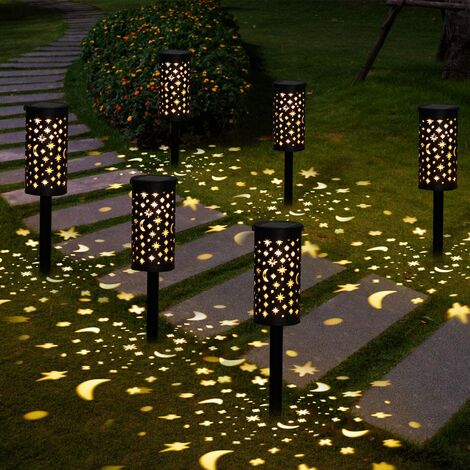 """main image of """"Solar Lamps Garden 6 Pieces Solar Lighting Outdoor Waterproof Sunlight Outdoor LED Solar Lighting Garden Decoration For Alley Path Terrace Lawn Landscape Christmas Party [Energy Class]"""""""
