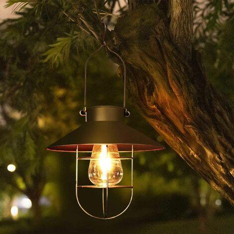 Solar lantern for outdoor - Vintage - Metal - LED solar lamp - Garden lamp - Suspension - For terrace, garden or path - Decoration