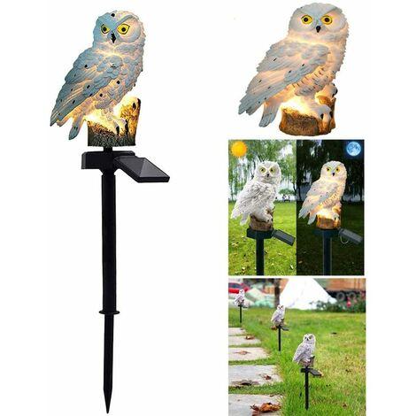 Solar Lawn Lamp, Outdoor Solar Light Garden Decoration Lamp Waterproof Path Lawn Garden Gardening Lamps Owl Design (White)