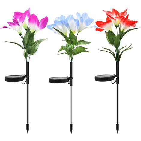 Solar Lawn Lights, Artificial Flower Lights, Orchid Lights, Garden Lights, Garden Landscape Lights