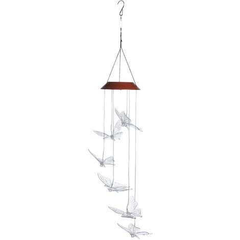 Solar LED chandelier Wind Chime Butterfly Gardening Outdoor Decor Self-induction Mohoo