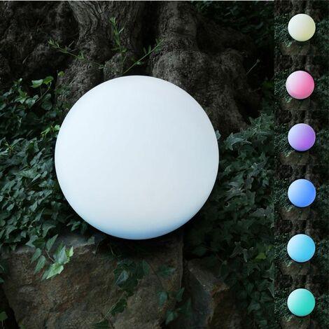 Solar-LED-Gartenleuchte Kugel 30cm Leuchtkugel Gartenlampe Farbwechsler Deko