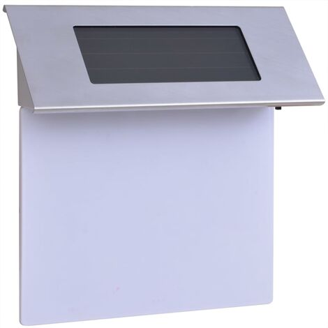 """main image of """"Solar LED House Number Light Stainless Steel"""""""
