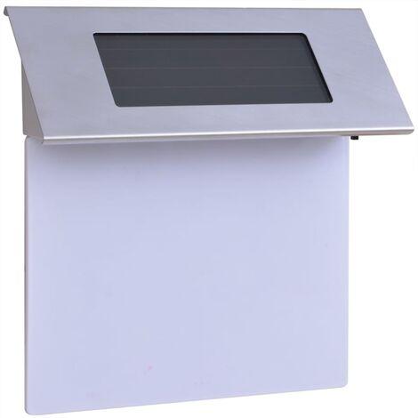 Solar LED House Number Light Stainless Steel