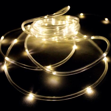 Solar LED Lichterschlauch Solarpanel Erdspieß warmweiss-MLK071W