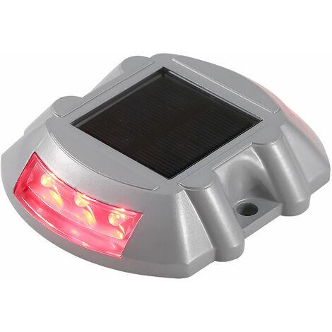 Solar LED Luz Muelle Parque jardin Patio lampara de luz blanca esta siempre encendido, Rojo